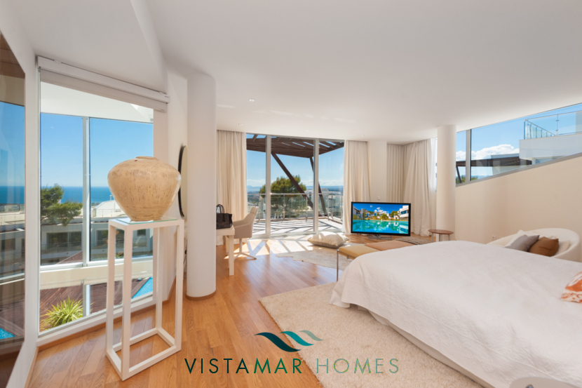 Modern Bedrooms with views · VMD010 Luxury Apartments Sierra Blanca Marbella