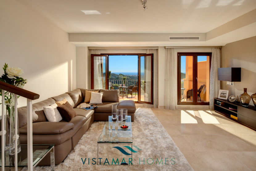 Living Room with Sea and Mountain Views · VMV010 Exclusive Residential Homes in Benahavis