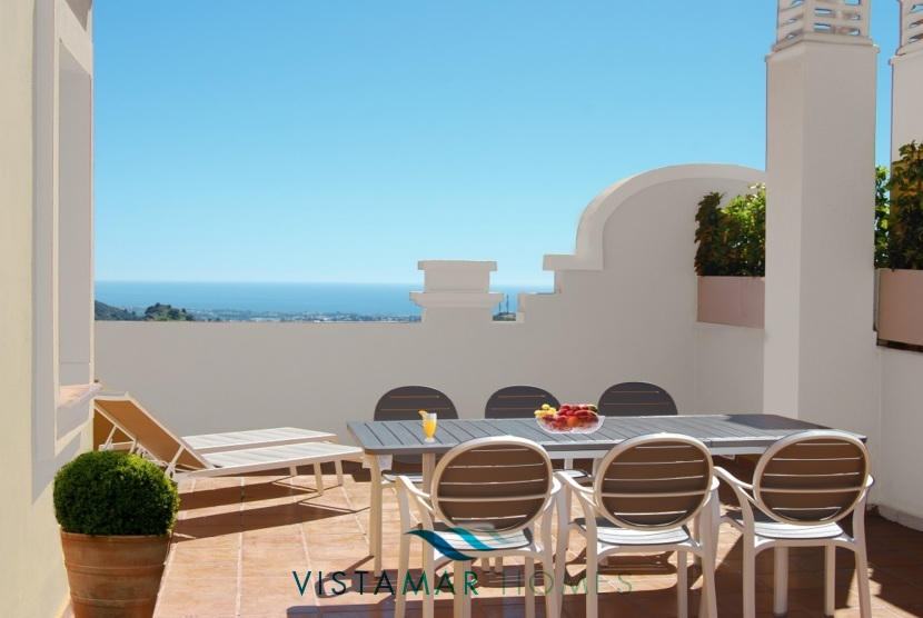 Sea and Mountain Views from the Terrace · VMV010 Exclusive Residential Homes in Benahavis