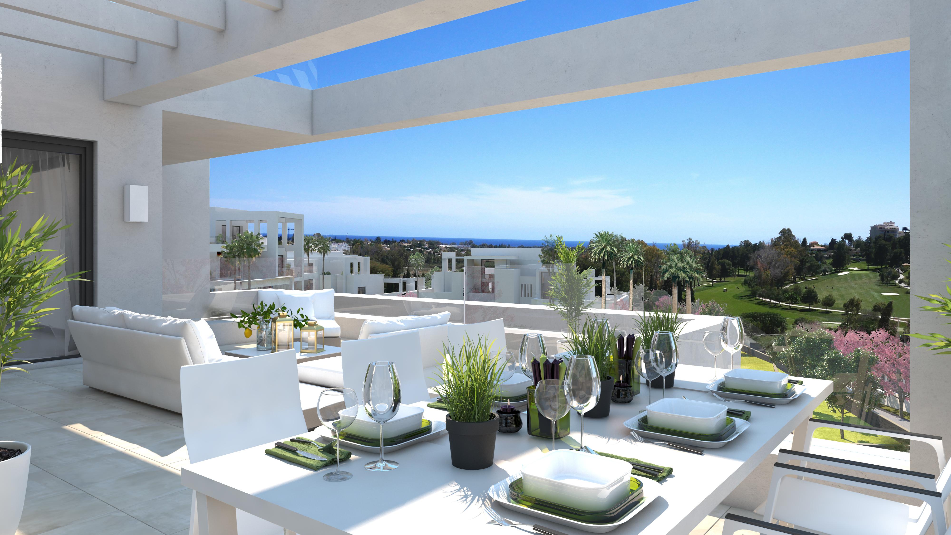 Contemporary apartments in Las Terrazas de Atalaya between Marbella and Estepona
