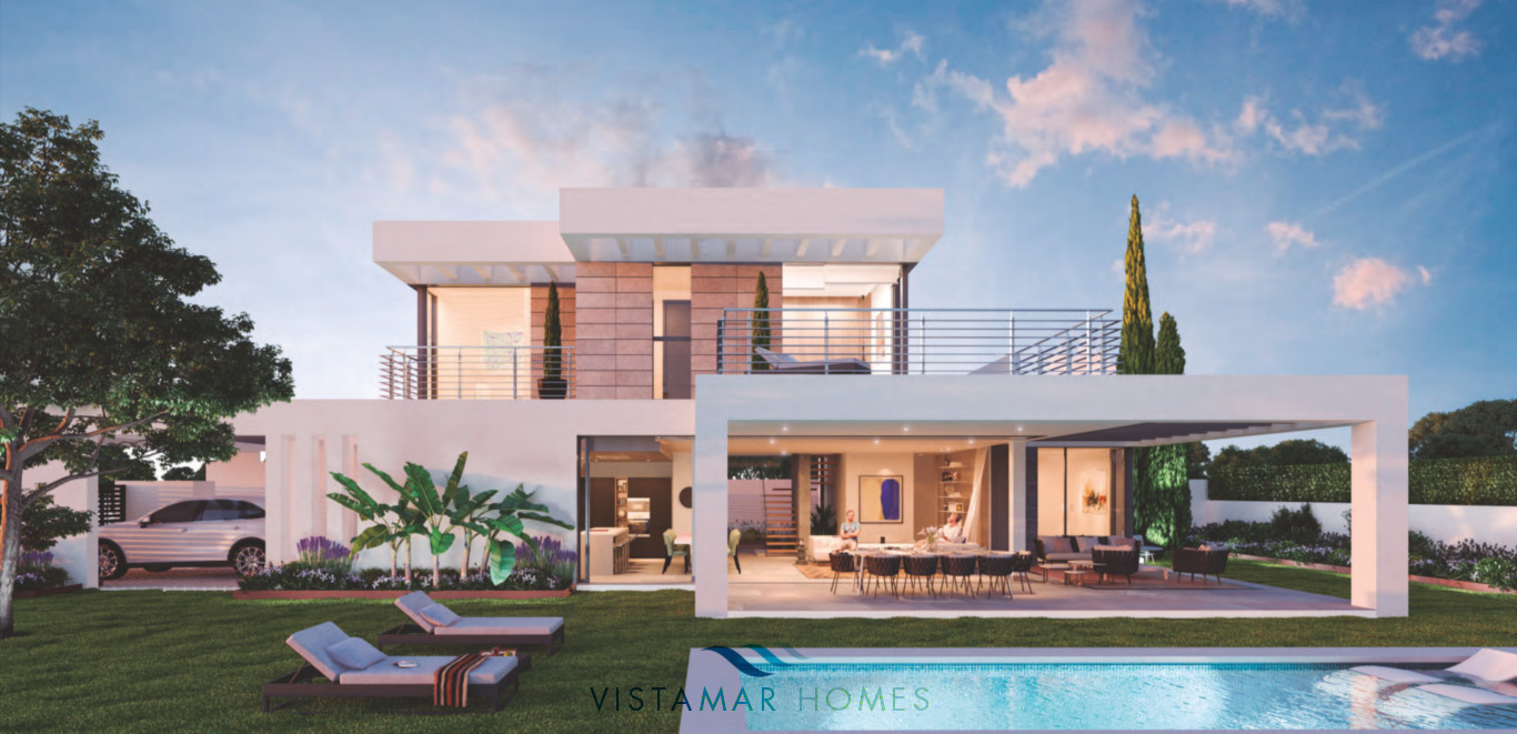 Modern off plan villas for sale in Cancelada Estepona