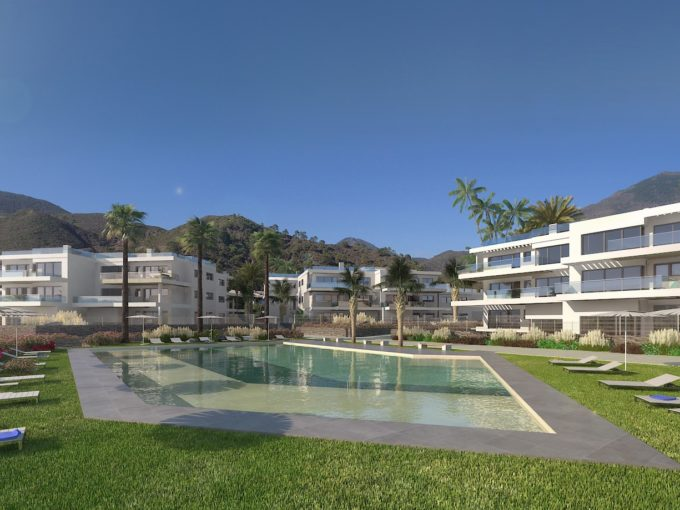 Contemporary project apartments in Benahavis town