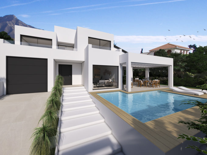 Brand new Contemporary villa in Marbella town