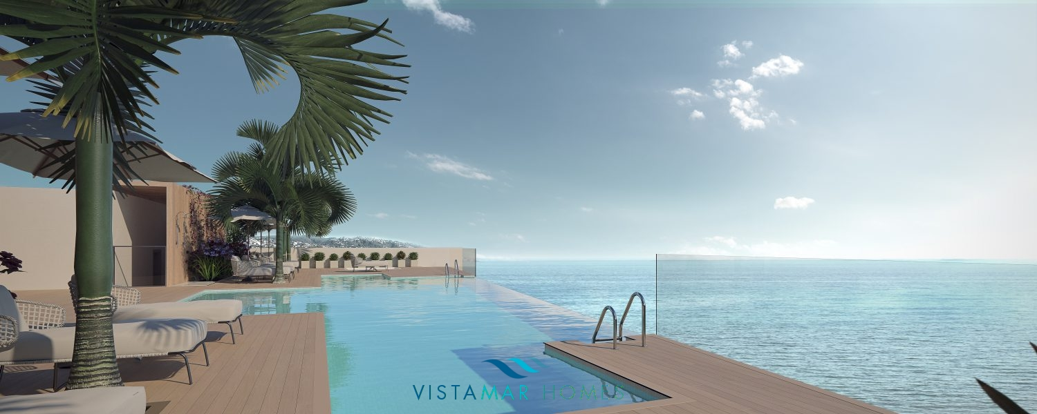 First line beach contemporary apartments in Estepona