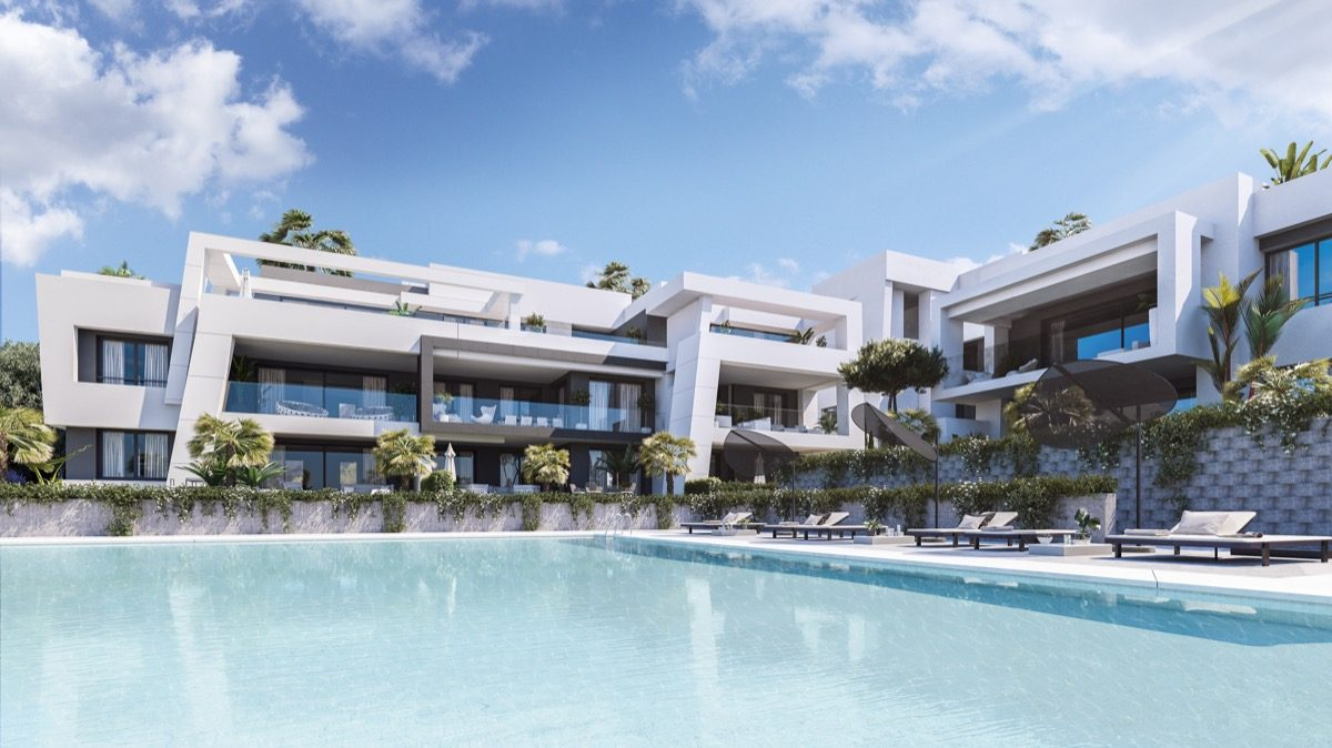 contemporary-apartments-in-estepona-marbella-vanian gardens - pool_