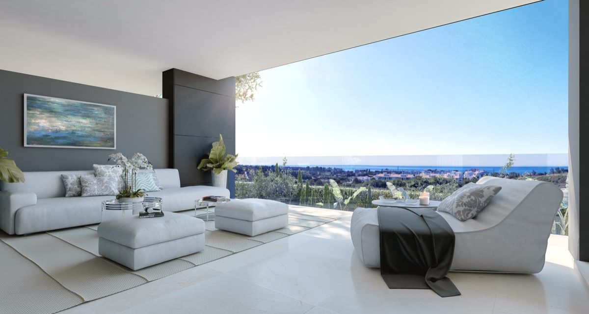 contemporary-apartments-in-estepona-marbella-vanian gardens - terrace_