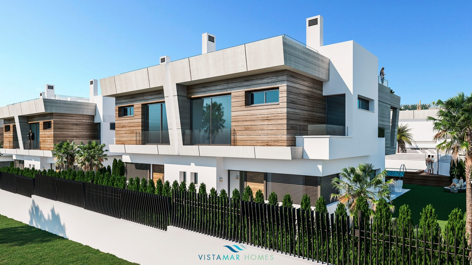 Residence of 14 contemporary semi detached houses walking distance to Puerto Banus