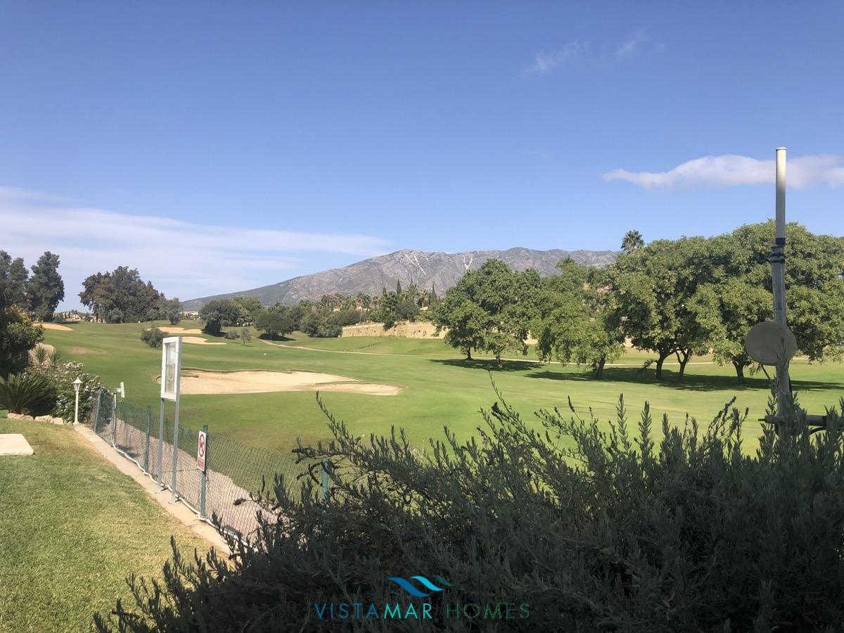 First line golf garden apartment In Mijas La siesta Golf